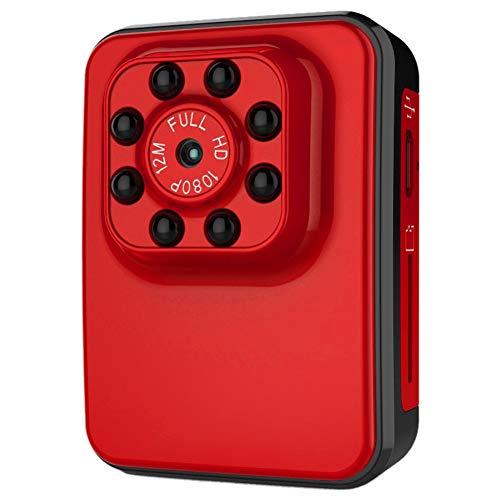TLMYDD Mini Versteckte Kamera Spion Babysitter HD 1080P Innenhaus Minimum Cam Überwachungskamera Batteriebetriebene Bewegungserkennung Jagdkamera (Color : Black) (Babysitter Kamera)