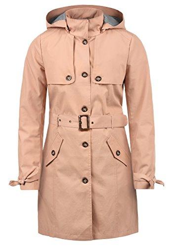 Desires Tina Damen Trenchcoat Übergangsmantel Jacke Mit Abnehmbarer Kapuze, Größe:S, Farbe:Mahog. Rose (4203)