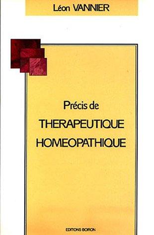 Précis de thérapeutique homopathique