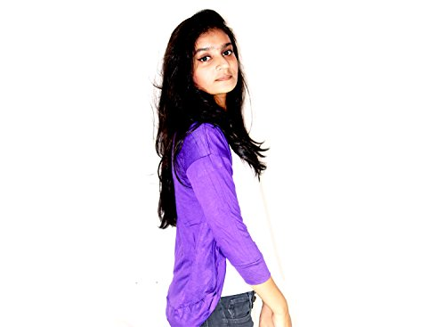 Stylist Layer Black Short Women's Cotton Shrug (Purple)  available at amazon for Rs.275