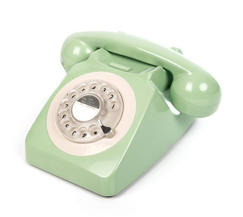 GPO 746ROTARYGRE Klassisches Telefon im 70er Jahre Design Grün - Telefon Ringer