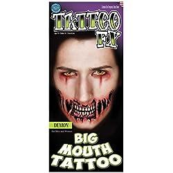 Tatuaje de demonio maquillaje boca grande FX