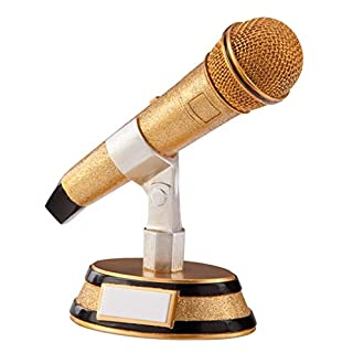 A1 PERSONALISED GIFTS Gold Microphone Karaoke Trophies