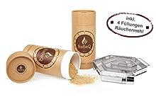 BaBeQ Premium Kaltraucherzeuger V1 Edelstahl für 12 Std Kaltrauch | Räucherschnecke Sparbrand Kaltrauchgenerator, Starter-Set