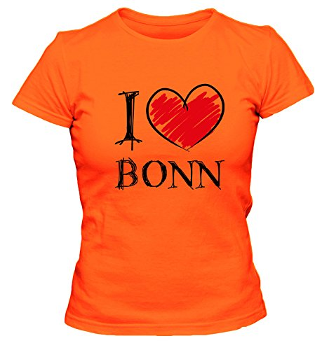 I love Bochum FUN Damen T-Shirt, Größe:XL;Farbe:orange