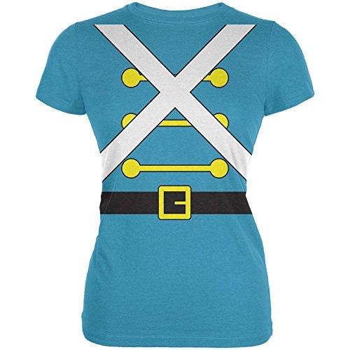 Weihnachten Spielzeug Soldat Kostüm Junioren weichen T Shirt Aqua (Soldat Kostüm Kostüm Spielzeug Damen)