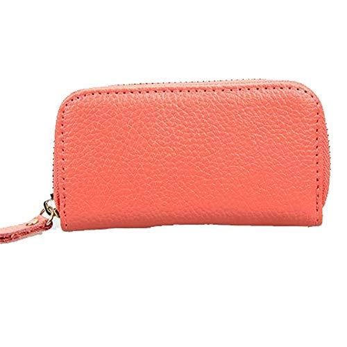 Key Wallets Frauen Männer Reißverschluss Geldbörse Tasche Auto Kartenhalter Mode Multifunktions-Haushälterin Halter, Hellbraun -