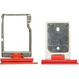 Original HTC SIM und SD Halter red / rot für HTC Desire Eye (Sim SD Holder, Tray)