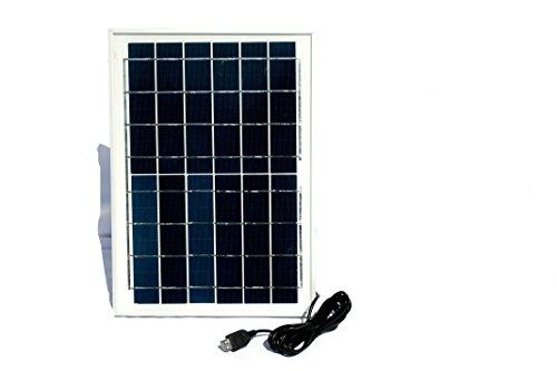 10 Watt Solarpanel 6 Volt - Solar Modul mit USB Hub und 4 USB Ausgängen, ohne Spannungsstabilisator, für alle USB Geräte, die mit 6 Volt geladen werden können (Solarleuchten, USB Pumpen, Solarradios, klassische Handys etc)