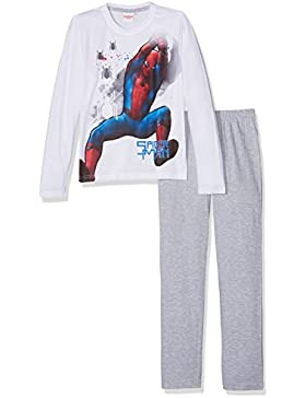 Spiderman Chicos Pijama - Blanco
