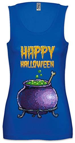 Pixel Happy Halloween Damen Frauen Tank Top Shirt Größen S - XL -
