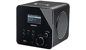 """MEDION LIFE P85017 (MD 86869) Wireless LAN Internet-Radio (2,4GHz/5GHz, 6,7 cm/2,65"""" LC-Display, AAC, MP3, WMA, AAC, 2 x 5 W RMS, AUX, USB, RJ45) schwarz"""