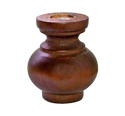 Home System 67885 Dekor Holzfuß, Durchmesser: 72, Höhe: 80 mm, Walnuss, Farblich sortiert (Auswahl nicht möglich) (Credenza Holz)