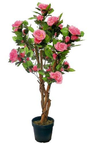 McPalms Rosenbaum 90 cm rosa Kunstpflanze Kunstblume Kunstrose Rose künstlich