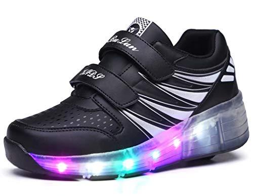Unisex-Led-Luz-Automtica-de-Skate-Zapatillas-con-Ruedas-Los-Zapatos-con-Ruedas-LED-para-Patines-de-Ruedas-iluminan-los-Entrenadores-con-Ruedas-Zapatillas-de-Deporte-para-nias-nios-Adultos