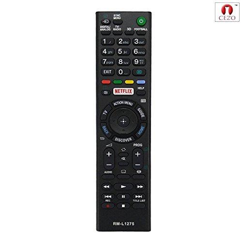 CEZO Sony Universal-Fernbedienung für Sony LED / LCD / Smart-TVs, funktioniert mit Netflix und 3D-Funktion, kein Programmieren erforderlich (RM L1275)