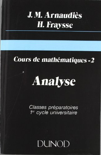Cours de mathematiques, tome 2, Analyse