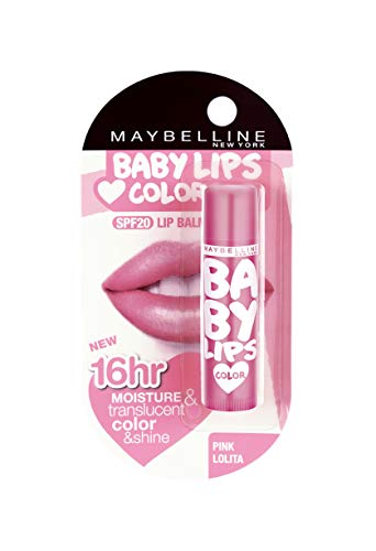 Maybelline New York Baby Lips Lip Balm, Pink Lolita, 4g