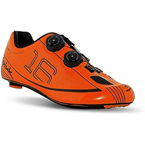 Spiuk 16 Road Carbono - Zapatillas unisex, color naranja / negro, talla 44