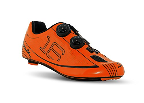 Spiuk 16 Road Carbono - Zapatillas Unisex, Color Naranja/Negro, Talla 39