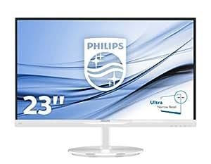Philips 234E5QHAW/00 58,4 cm (23 Zoll) Monitor (VGA, 2xHDMI, 1920 x 1080, 60 Hz) weiß