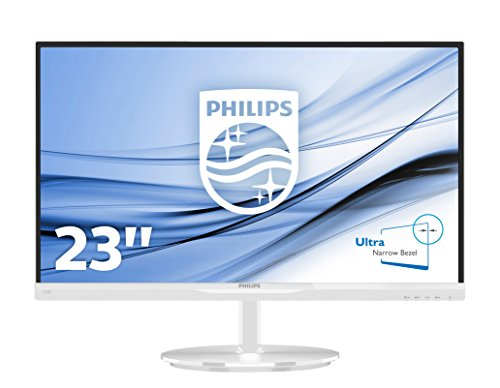 """Philips 234E5QHAW E-Line Monitor 23"""", colore: Bianco"""