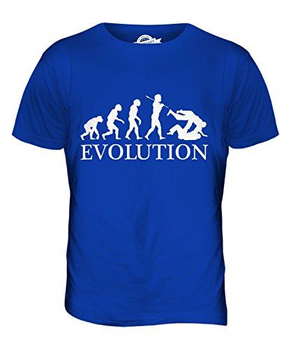 CandyMix Judo Evolution Des Menschen Herren T Shirt Königsblau