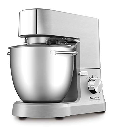 Moulinex Masterchef QA810D01 - Robot de cocina y repostería  profesional 1500 W con kit de masas metálico...