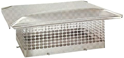 The Forever Cap CCSS1418 13 x 17-Inch Stainless Steel 5/8-Inch Spark Arrestor Mesh Chimney Cap by The Forever Cap