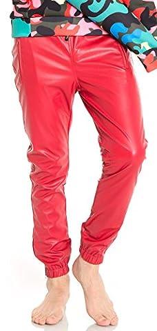 Pizoff Hip Hop Pants Homme Pantalon en similicuir Y0542-32