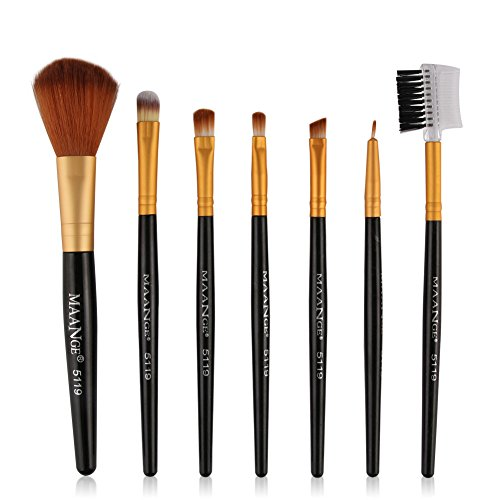 Siswong Make-up-Sets, 7 StüCke Make-Up Kosmetik Pinsel Lidschatten Lidschatten Foundation Blending...