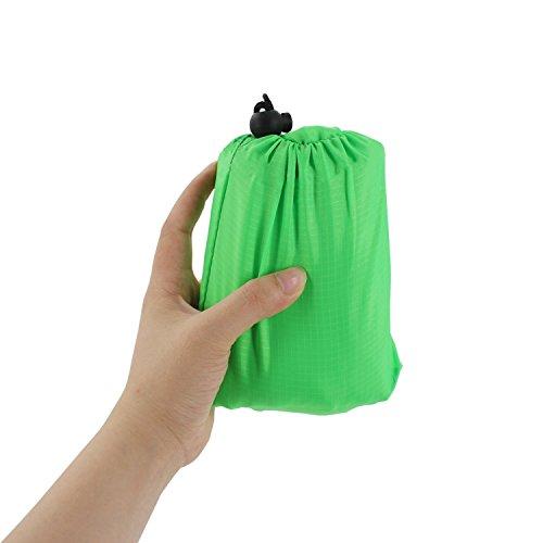 Preisvergleich Produktbild Almondcy Pocket Decke (140cm x 200cm) für Picknick,  Strand,  Wandern,  Camping - Wasserdicht,  Anti-Punktion und reißfeste Decke,  Grün