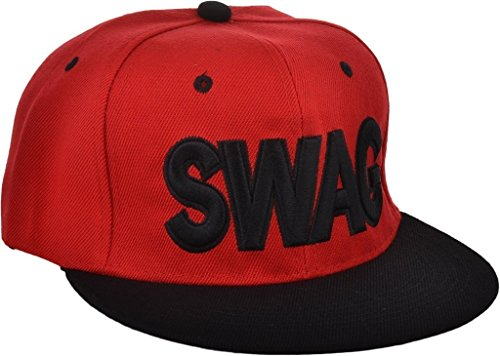 Red/Black Swag Hip Hop Snapback Cap  available at amazon for Rs.225