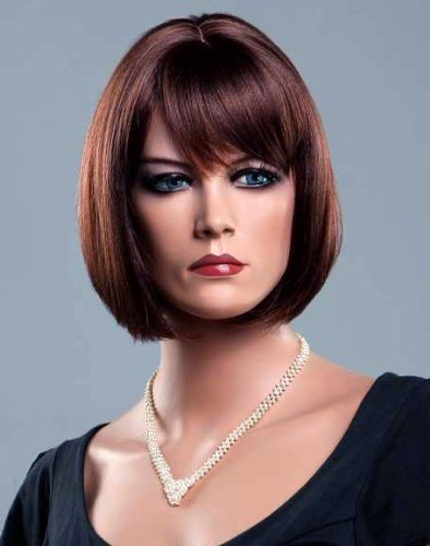 Forever Young Ladies Short Dark Auburn Wig in Classy Bob Style by Forever Young -