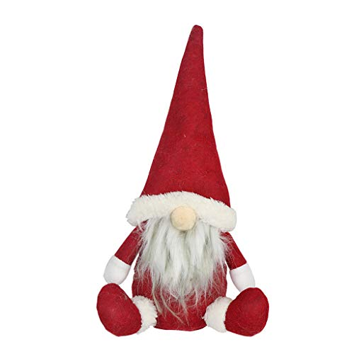 Hunpta@ Weihnachten Dekoration Schneemann Handgemachtes Santa Cloth Doll-Geburtstagsgeschenk für Hauptweihnachtsfeiertags-weihnachtsbäume deko Holz (Rot) (Macht Ein Lego Mann Kostüm)