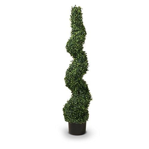 Buchsbaum Kunstpflanze KNUT 120 Kunstbaum, Buxbaum, künstlicher Buchsbaum mit Naturstamm, 35x35x120 cm (L/B/H)