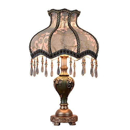 Jiesen-desk lamp Europäischen Stil Tischlampe Kreative Stoff Nachttischlampe Handgemachte Prinzessin Viktorianischen Stil Harz Lampe Körper Schreibtischlampe Verwenden E27 Birne,40 * 73cm -