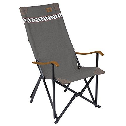 Bo Camp Urban Outdoor Klappstuhl Camden Camping Stuhl Angelstuhl Klappsessel Hochlehner Alu faltbar bis 100 kg Grau -