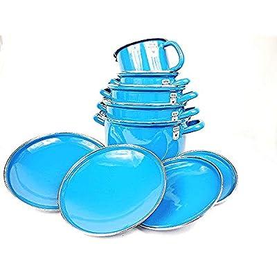 Riess 5-Piece Enamel Set Blue