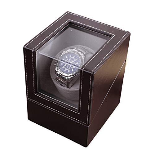 bxbx Automatischer Uhrenbeweger,Uhrenbeweger PU-Leder Kissen Lange Haltbarkeit Geräuschloser Motor Antimagnetisches Design Zwei Stromversorgungsmethoden Automatik Uhrenbeweger