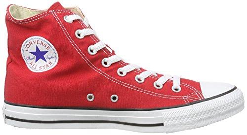 Converse Ctas Core Hi Sneaker, Unisex Adulto Rosso (Red)
