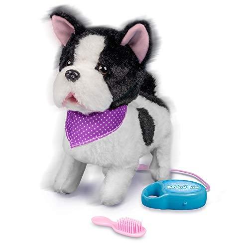 Französische Bulldogge / Bellender und gehender Hund mit Funktion (Leine/Fernbedienung) (Für Hund Spielzeug Kinder)