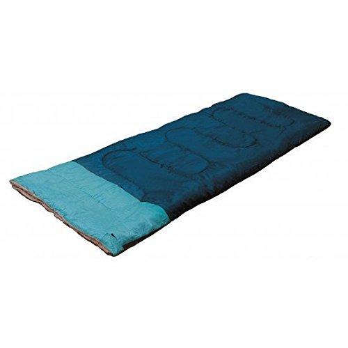 SINGLE SLEEPING BAG ADULT SIZE 190 X 75 CM FESTIVAL CAMPING CARAVAN KEEP WARM ZIP CARRY BAG (BLUETEAL)