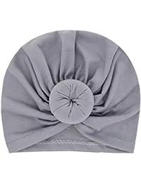 21cd7c99e9df Miaoo Bonnet en coton doux pour bébé fille Turban pour ...