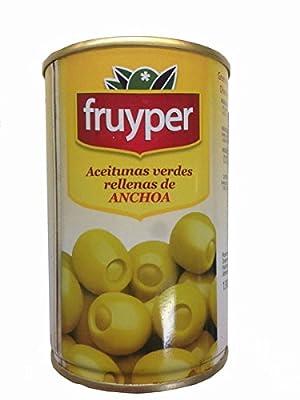"""Oliven gefüllt mit Sardellenpaste / Aceitunas rellenas de anchoas """"Fruyper"""" - 300 gr"""