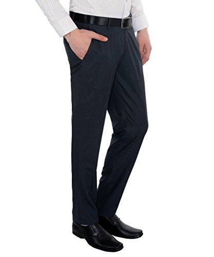 Only Vimal Men's Blue Self-designed Slim Fit Formal Trouser