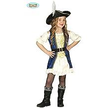 Deluxe Piratin Kleid Kostüm für Mädchen Gr. 110-146