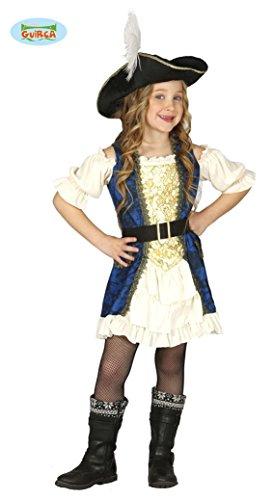 Deluxe Piratin Kleid Kostüm für Mädchen Gr. 110-146, (Deluxe Kostüme Kind Pirat)