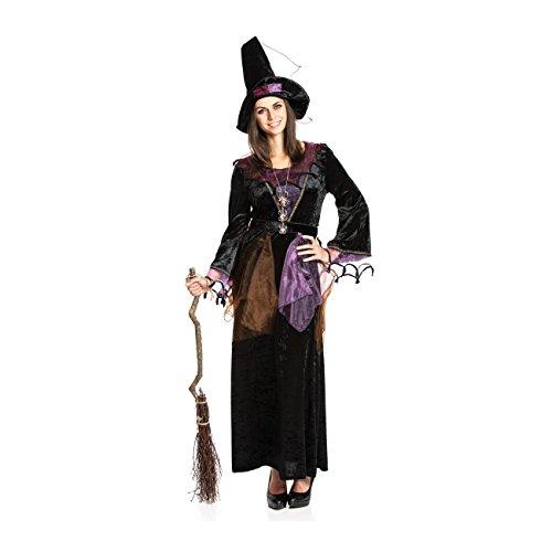 Kostümplanet® Hexen-Kostüm + Hexen-Hut Damen lila Hexe Größe 36/38 (Hexe Kostüm Hut)