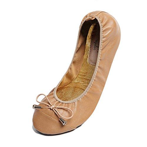 Cocorose London Scarpe Pieghevoli - Balham Scarpe da Ballet Donna Tan